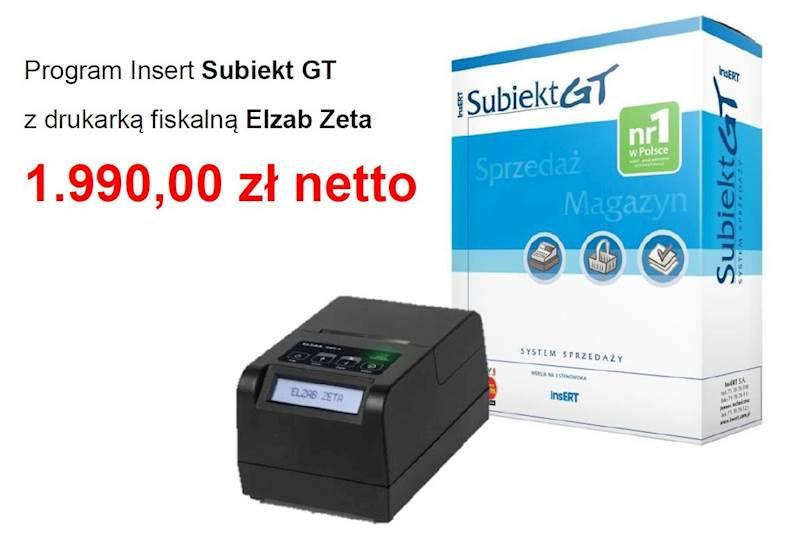 INSERT SUBIEKT GT + DRUKARKA F. ELZAB ZETA