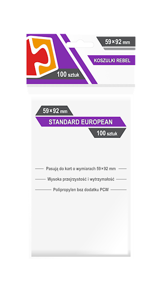 Koszulki na karty (59x92mm) Standard European 100 szt.