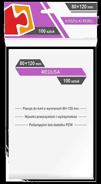 Koszulki na karty (80x120mm) Medusa 100 szt.