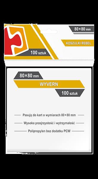 Koszulki na karty (80x80mm) Wyvern 100 szt.