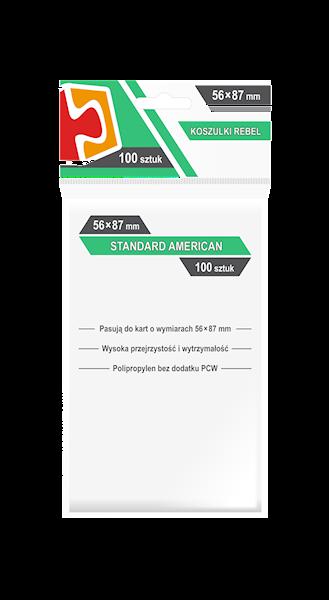 Koszulki na karty (57,5x89mm) Standard American 100 szt.