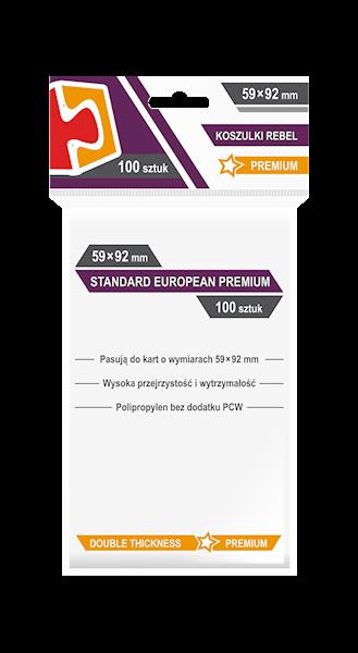 Koszulki na karty (59x92mm) Standard European Premium 100 szt.