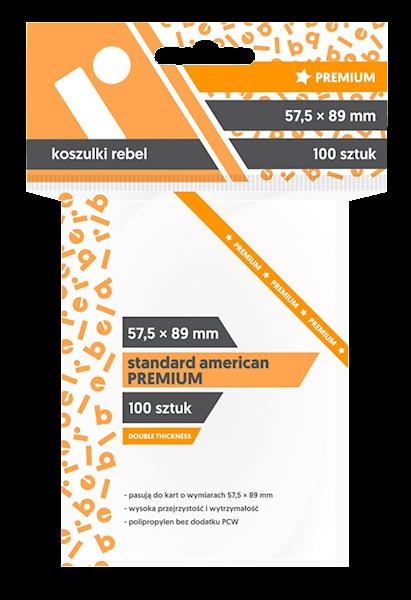 Koszulki na karty (57,5x89mm) Standard American Premium 100 szt.