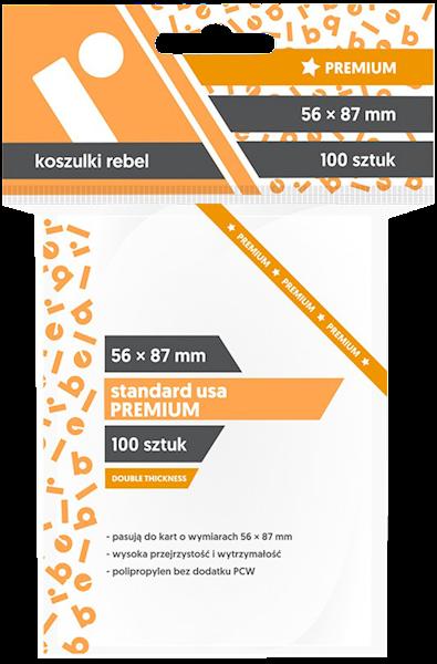 Koszulki na karty (56x87mm) Standard USA Premium 100 szt.