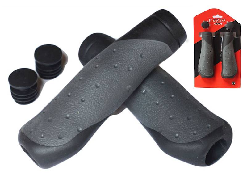 Chwyty kierownicy 2Density WAVE 130mm czarno/szary