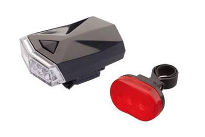 Lampki kpl przód 4led+tył smart design z bateriami