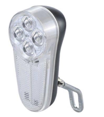 Lampka przód na widelec 4 LED bat. kartonik