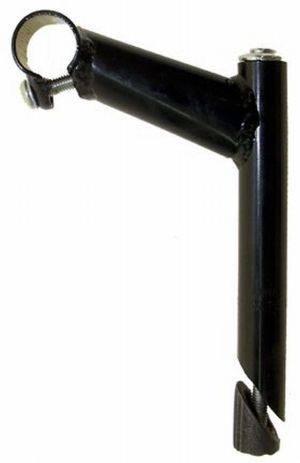 Wspornik kierownicy 22.2 stalowy czarny MTB