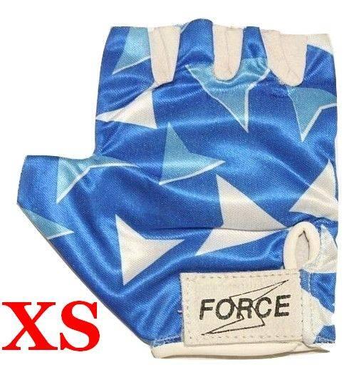 Rękawiczki rowerowe rozmiar XS niebiesko/białe