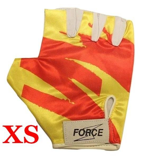 Rękawiczki rowerowe rozmiar XS żółto/czerwone