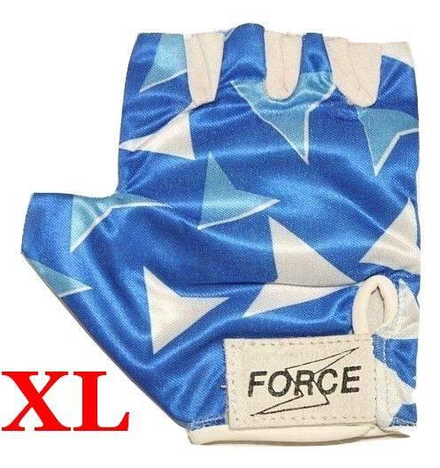 Rękawiczki rowerowe rozmiar XL niebiesko/białe