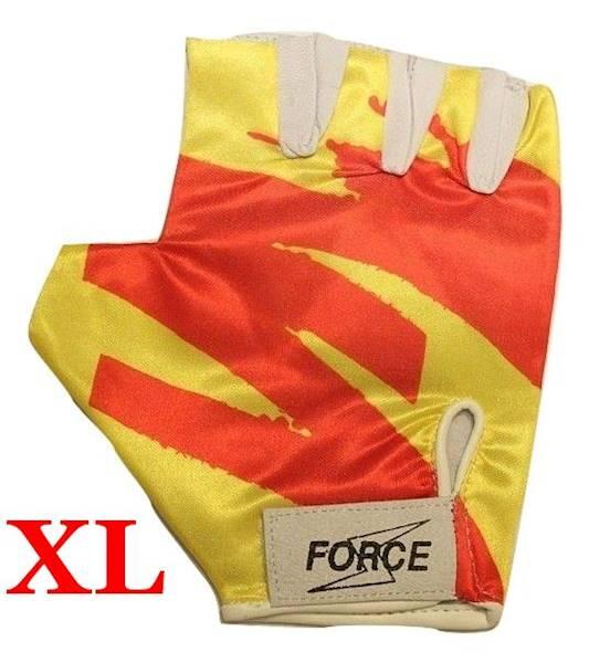 Rękawiczki rowerowe rozmiar XL żółto/czerwone