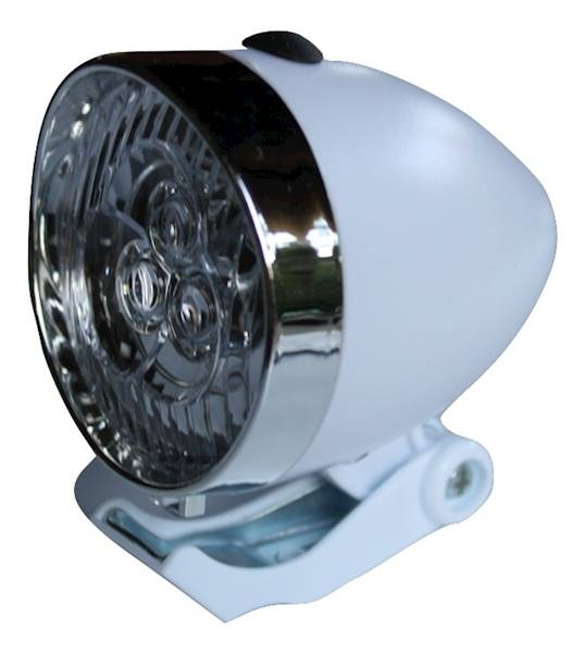 Lampka przód RETRO LED bateryjna / biała
