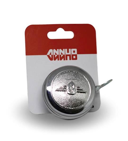 Dzwonek stalowy chrom emblemat 54mm / karta