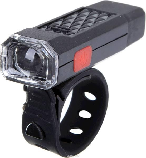 Lampka przód MINI 1 SUPER LED USB - CZARNA