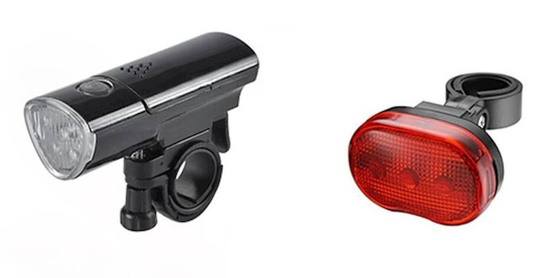 Lampki kpl przód 3led+tył smart design z bateriami