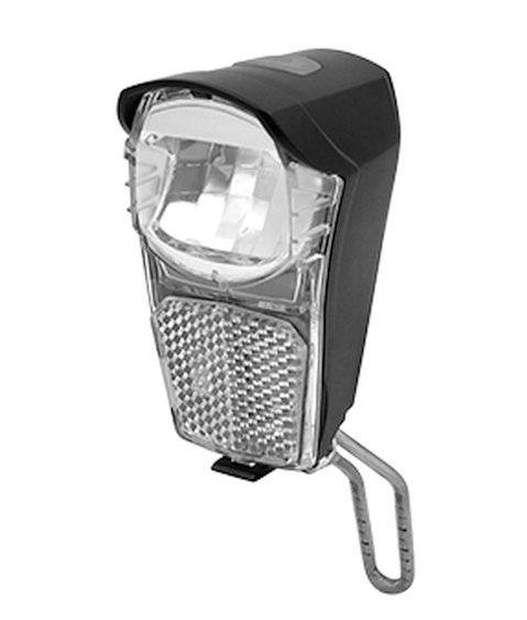 Lampka przód na widelec 1 Watt 20 LUX bateryjna