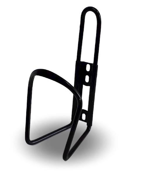 Koszyk bidonu aluminiowy CZARNY