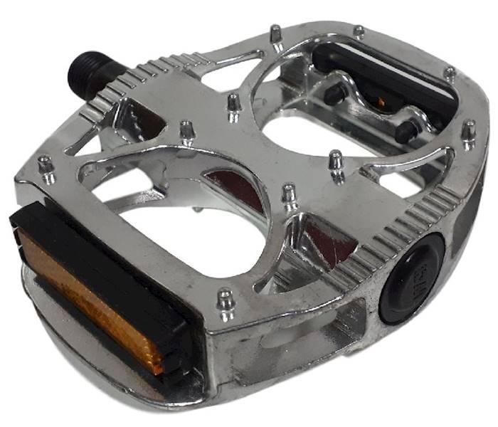 Pedały BMX DH aluminiowe łożyska kulkowe SREBRNE