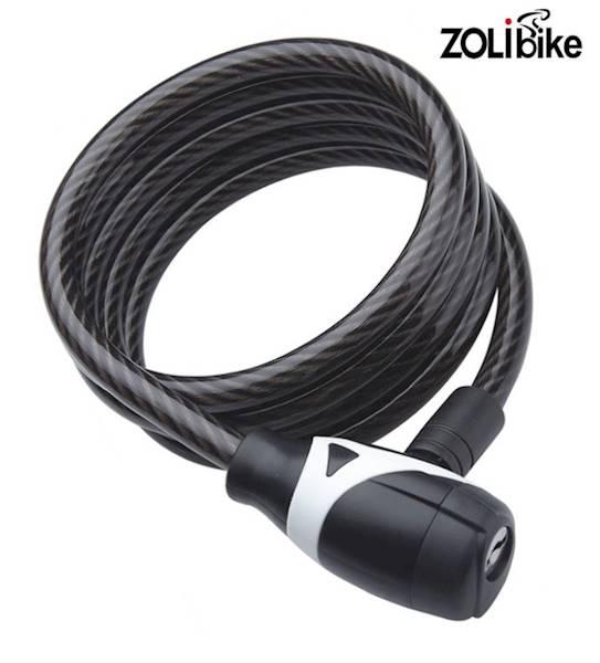 Zamknięcie rowerowe spiralne 15x1800mm czarne / 4K