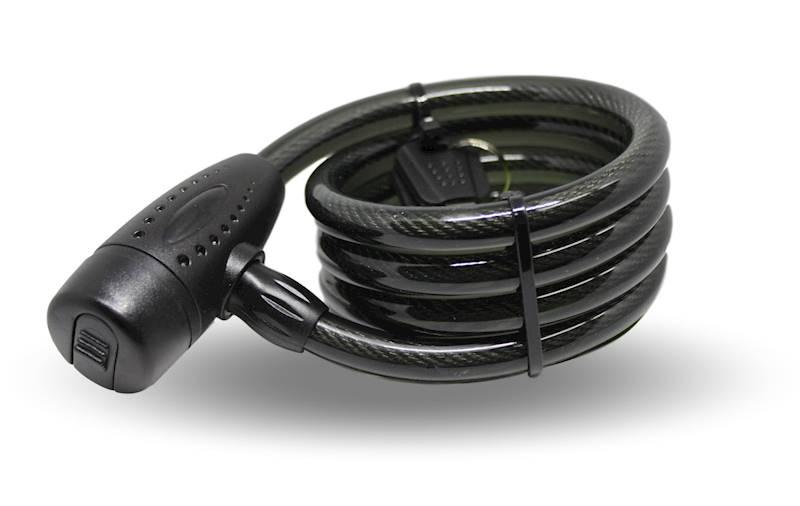 Zamknięcie rowerowe spiralne 12x1200mm czarne