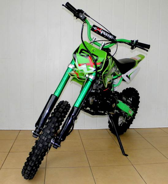 CROSS YD 607 PRO E-START 125cc 17/14 ZIELONY