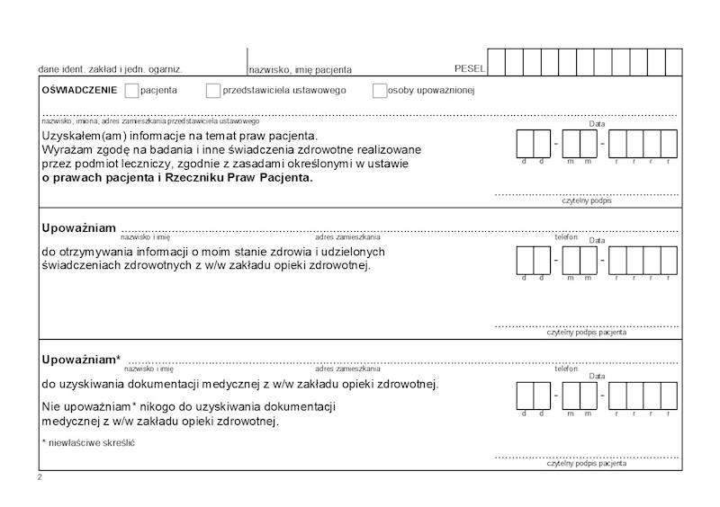 OG-2/1 Historia zdrowia i choroby - Ambulatorium 2xA5/500szt