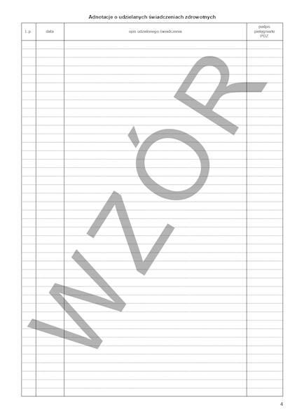 NFZ-28 Indywidualna Karta Opieki Pielęgniarki w POZ 2xA4c/100szt