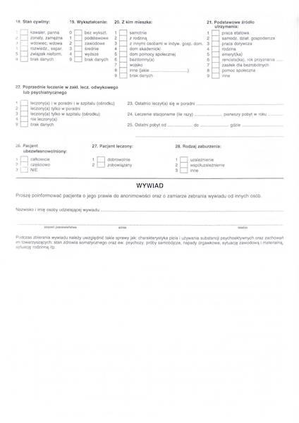 ALK-1 Historia Choroby - Poradnia leczenie uzależnienia od alkoholu i współuzależnienia 4xA4c/100szt