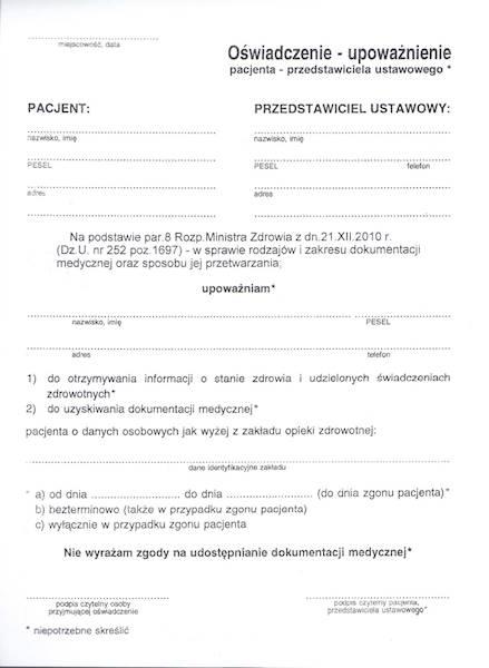 OG-2Z Historia zdrowia i choroby Ambulatorium A5/12k Zeszyt