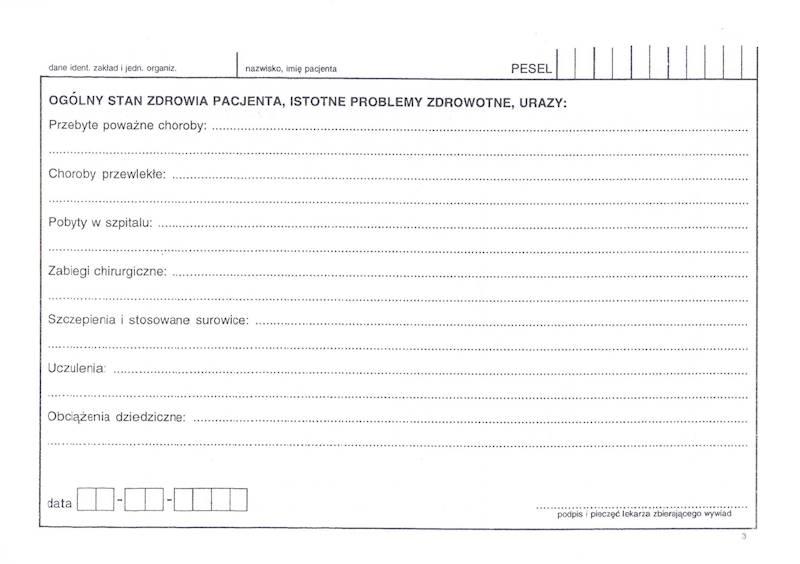 OG-2/1A Historia zdrowia i choroby Ambulatorium 2xA5/100szt Karton