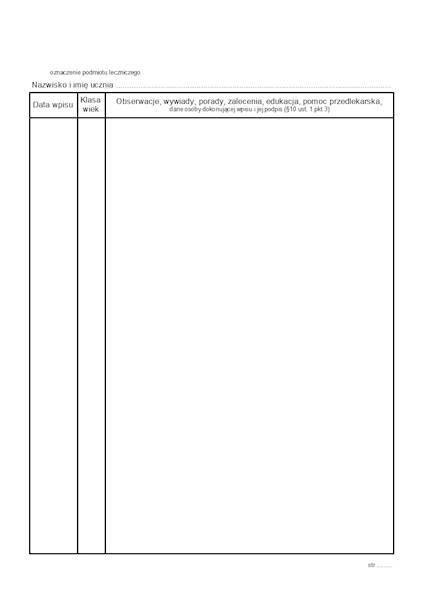 HSZ-11B Fluoryzacje zębów - wkładka do Hsz-11 A5c/bl.100k