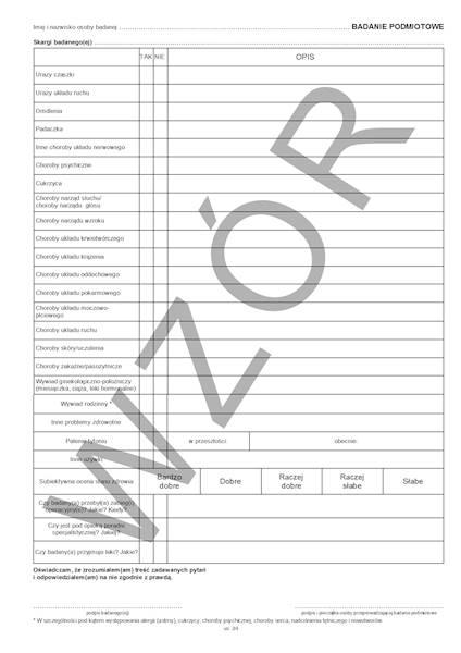 LP-2/2010 Karta badania profilaktycznego 2xA4c/100szt