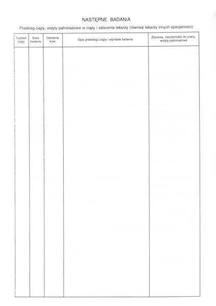 K-5 Karta przebiegu ciąży (lekarska) 2xA4/100szt