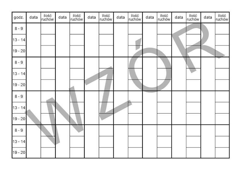 K-6 Karta ruchów płodu A5c/bl.100k