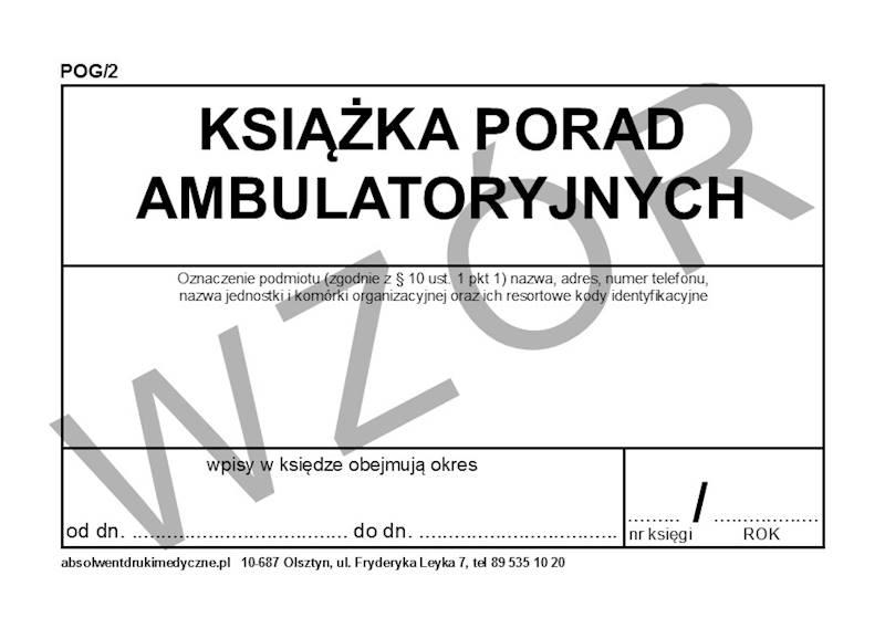 POG/2 Książka porad ambulatoryjnych A4c/100k Spirala