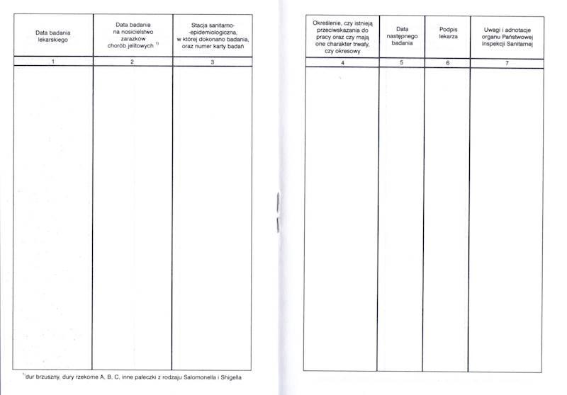 Ksn-2 Książeczka zdrowia dla celów sanitarno - epidemiologicznych A6