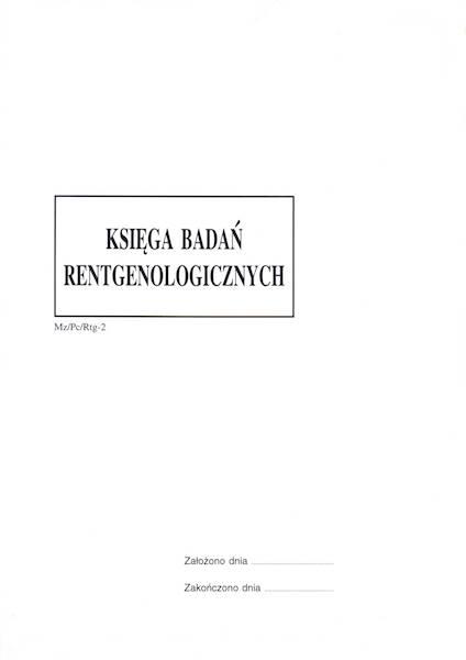 RTG-2B Księga badań rentgenologicznych A4b/100k Spirala