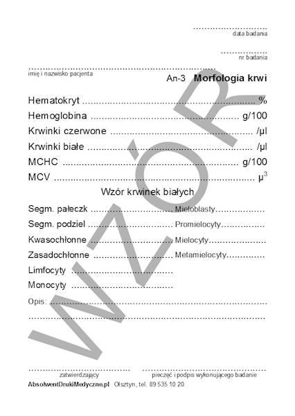 AN-3 Morfologia krwi A6a/bl.100k