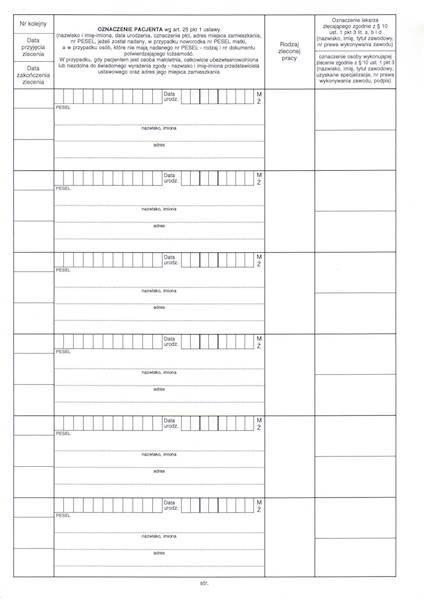 ST-2 Księga Pracowni Protetycznej i Ortodontycznej A4b/100k Spirala