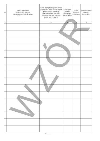 LP-49 Rejestr Wydanych Zaświadczeń A4c Spirala