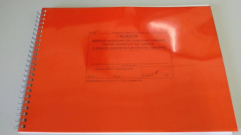 MZ/10 Rejestr chorób zakaźnych A4b/100k Spirala