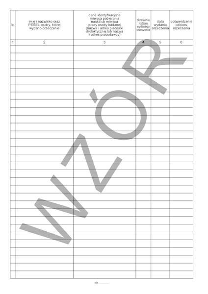 LP-48A Rejestr orzeczeń lekarskich (medycyna pracy) A4b/100k Spirala