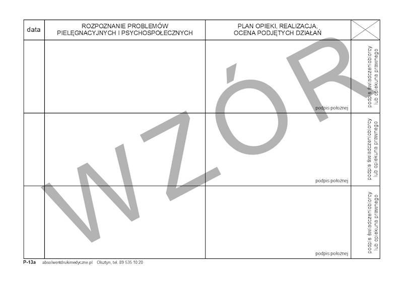 P-13A Wkładka do kart opieki nad położną / noworodkiem A5c/bl.100k