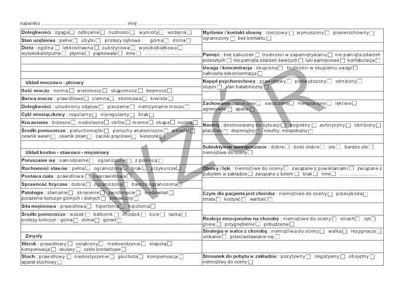 HA/106 Wywiad pielęgniarski 2xA4c/bl.100k