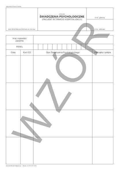 ZPO/22 Świadczenia psychologiczne A4a/bl.100k