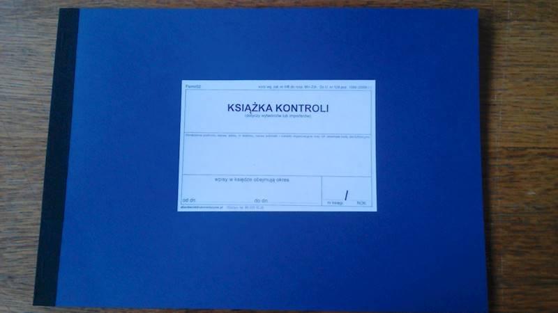 Farm/02 Książka kontroli (dotycząca wytwórców lub importerów) A4b/42str Oprawa miękka