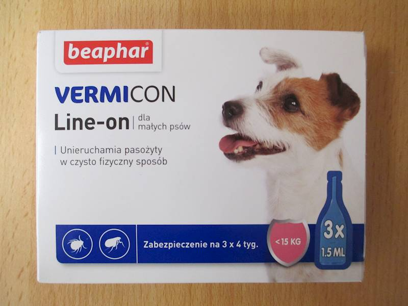 krople VERMICON DOG S 3x1,5ml do 15kg