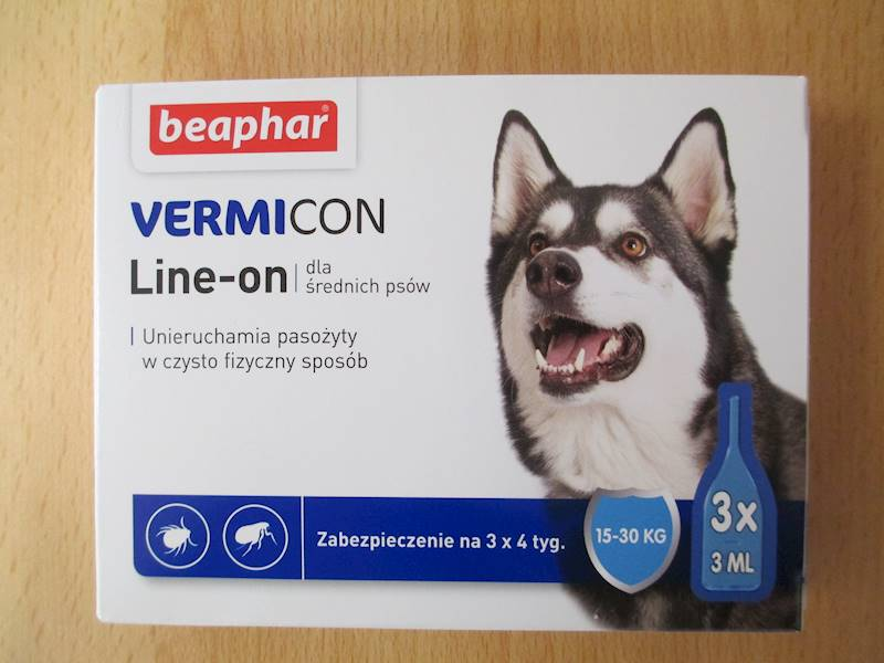 krople VERMICON DOG M 3x3ml 15-30kg