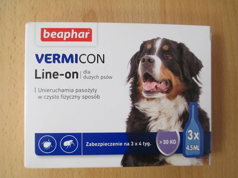 krople VERMICON DOG L 3x4,5ml od 30kg